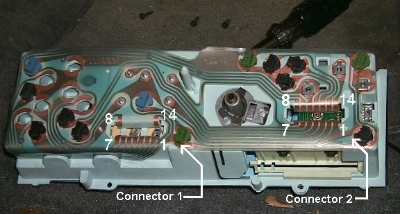 instrument cluster back view